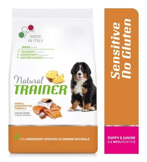 Natural Trainer Sensitive Medium Maxi Puppy Salmone 12 KG Croccantini Per Cani