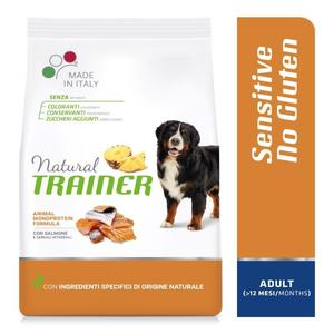 Natural Trainer Sensitive Medium Maxi Adult Salmone 12 KG Croccantini Per Cani