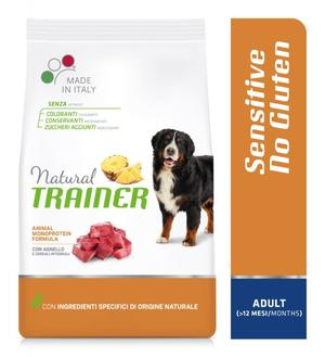 Natural Trainer Sensitive Mediu Maxi Adult Agnello 12 KG Croccantini Per Cani