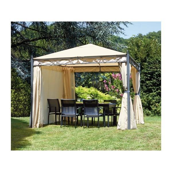 Gazebo professionale rettangolare Gazebo idrorepellente giardino 3x4  completo di tende laterali e zanzariere RAPALLO