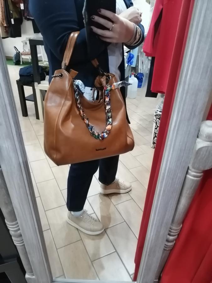 MIMi' MUA' FIRENZE borsa a spalla con foulard intrecciato