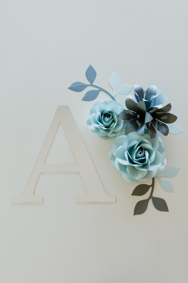 Paper Flowers Wall Collection - Set Bacio