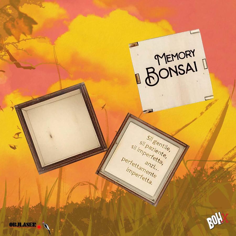 Scatola porta carte Bonsai Memory