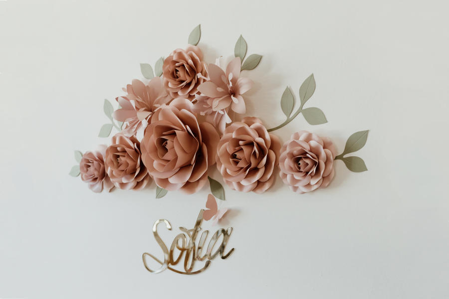 Paper Flowers Wall Collection - Set Orizzonte