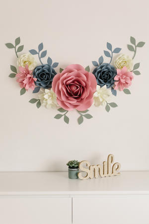 Paper Flowers Wall Collection - Set Sorriso