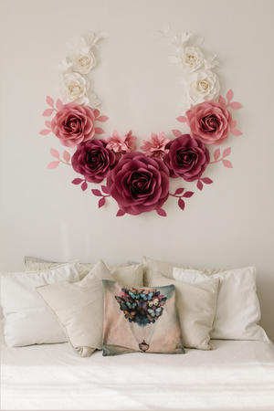 Paper Flowers Wall Collection - Set Abbraccio