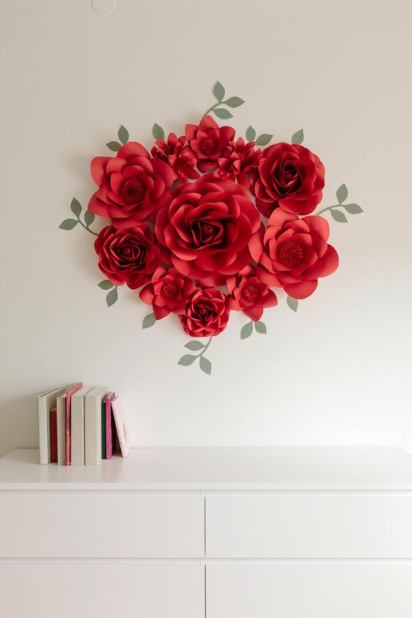 Paper Flowers Wall Collection - Set Sole/Laurea