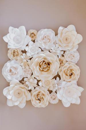 Composizione 1 m2 di fiori di carta