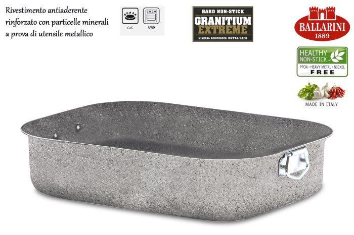 Teglia Teglia Arrosticera 30 x 22 Granitium CORTINA ECO INDUZIONE Ballarini antiaderente cuore di pietra