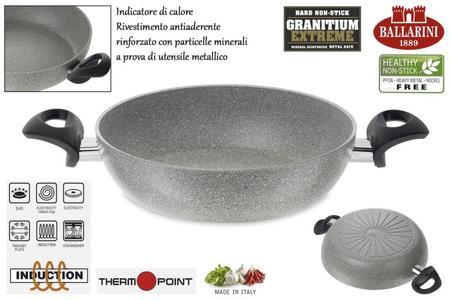 Tegame cm 24 con 2 manici Granitium CORTINA GRANITIUM ECO INDUCTION Ballarini antiaderente cuore di pietra