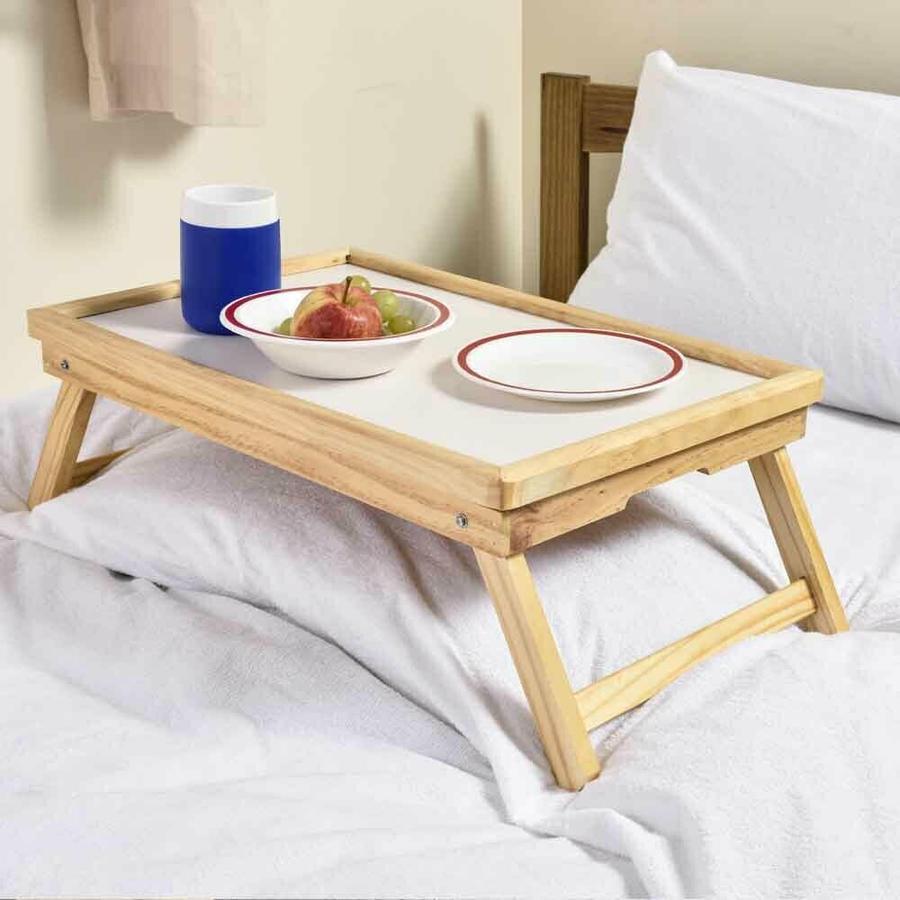 Vassoio da Letto Tavolino Pieghevole Legno Colazione Multiuso Gioco 50x31x21 cm