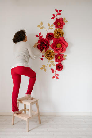 Paper Flowers Wall Collection - Set Natale