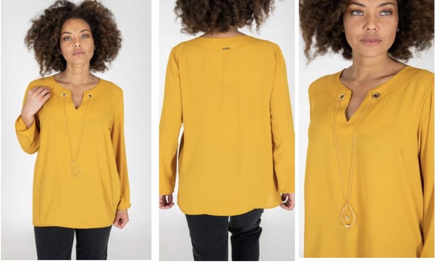 MORE blusa con collana applicata