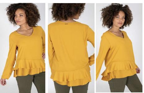 MORE blusa con plissè