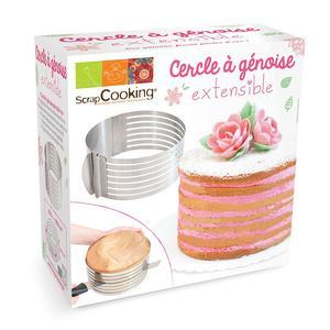 Anello regolabile 16-20 cm taglia torte in acciaio