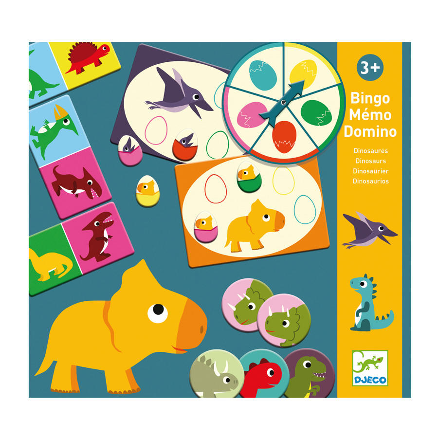Bingo Memory Domino Dinosauri