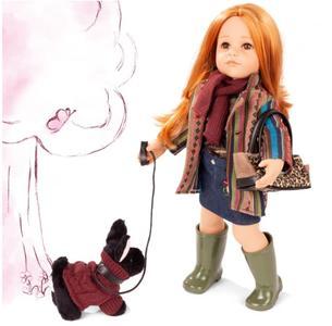 Bambola in Vinile Hannah e il suo Cane Originale di Gotz in Edizione Numerata Limitata qualità Made in Germany