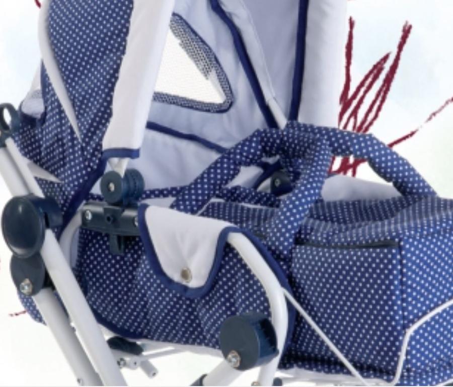 Carrozzina per Bambole Spotty Blue Originale di Gotz qualità Made in Germany