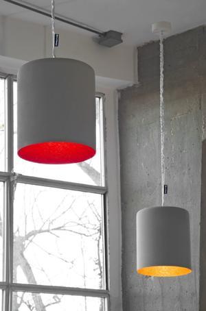 Lampada a Sospensione Bin Cemento Collezione Matt di In-es.artdesign, Varie Finiture - Offerta di Mondo Luce 24
