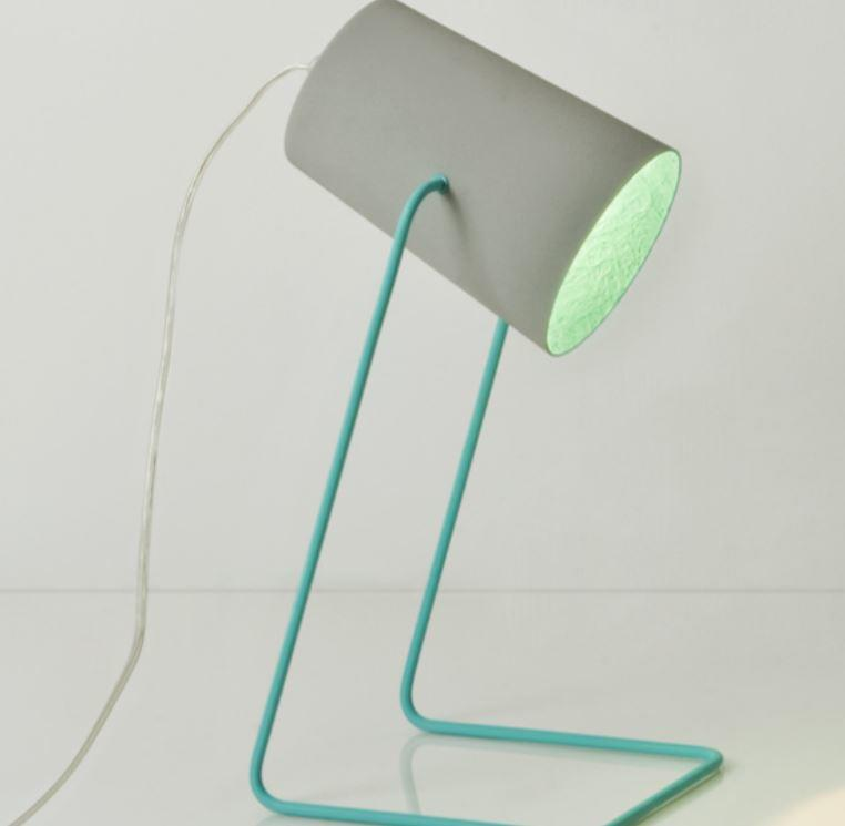 Lampada da Tavolo Paint T Cemento Collezione Matt di In-es.artdesign, Varie Finiture - Offerta di Mondo Luce 24