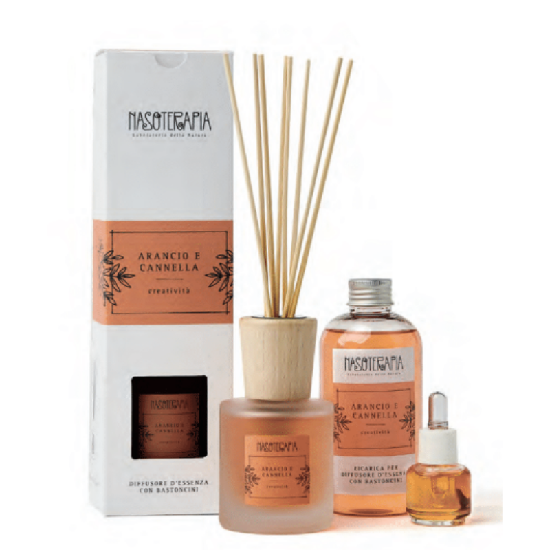 Nasoterapia - Arancio dolce e Cannella Essenza aromatica per diffusori
