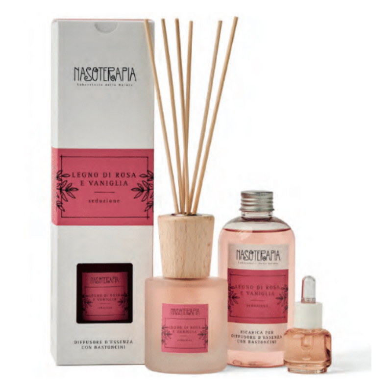 Nasoterapia - Legno di Rosa e Vaniglia Essenza aromatica per diffusori