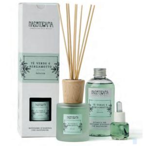 Nasoterapia - Tè verde e Bergamotto Ricarica per diffusore a bastoncini