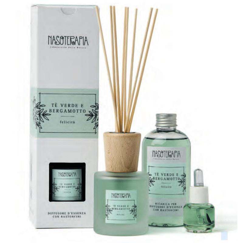 Nasoterapia - Tè verde e Bergamotto Essenza aromatica per diffusori