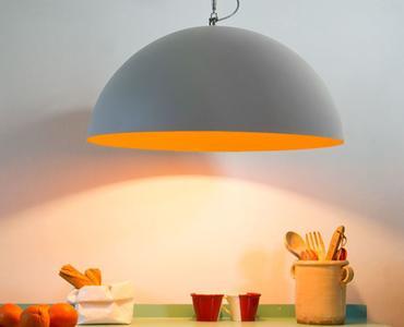 Lampada a Sospensione Mezza Luna Cemento Collezione Matt di In-es.artdesign, Varie Misure e Finiture - Offerta di Mondo Luce 24