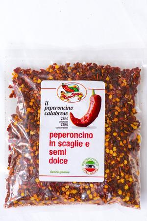 Peperoncino in scaglie con semi Dolce Calabrese, Maraspezie, 80 gr
