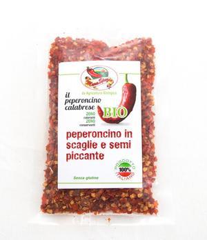 Peperoncino in scaglie con semi Piccante, Maraspezie,  80 gr