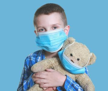 10 pz Mascherine chirurgiche medicali pediatriche monouso in TNT 3 strati con elastici conf pezzi 10
