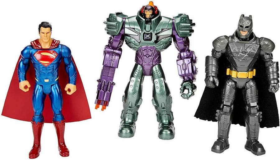 Batman Superman Lex Luthor Set 3 personaggi 15 cm -- Mattel DHY28 - 4+