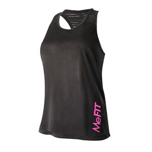 Workout Undershirt - (Black / Hot Pink)