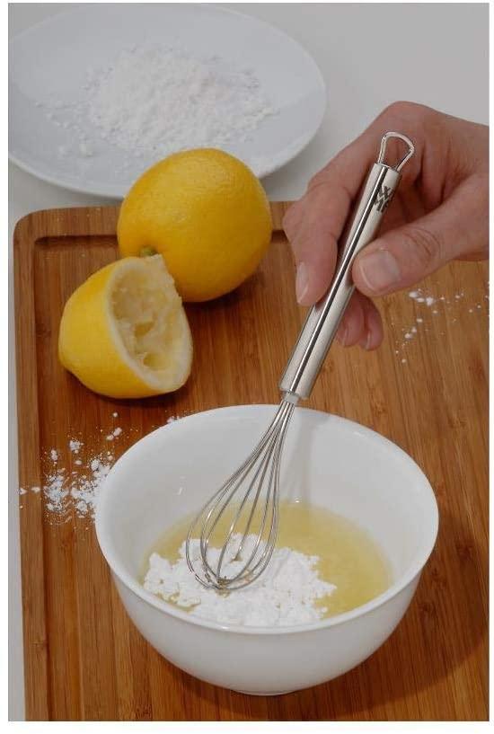 Mini Frusta da Cucina Sbattitore Uova Dolci in Acciaio Battiuova 16 cm