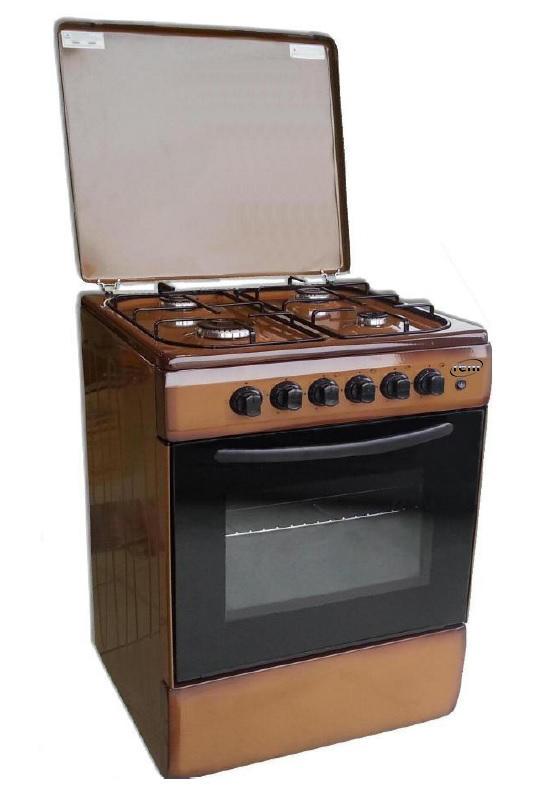 REM Cucina a gas con Forno a Gas + Grill Elettrico 50x50 Moka R503M