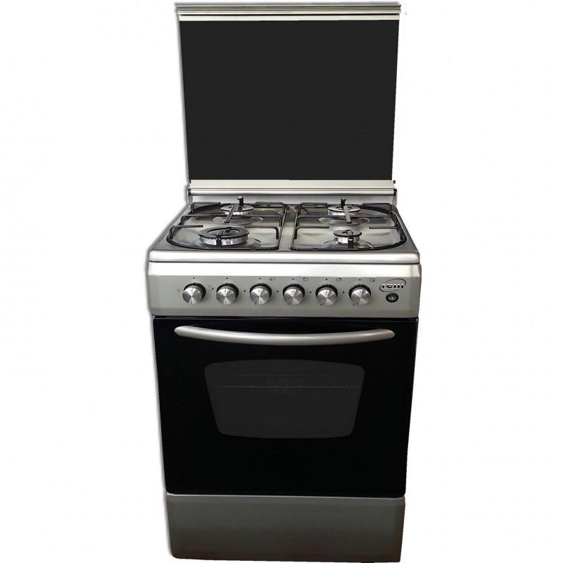 REM Cucina a gas con Forno a Gas + Grill Elettrico 50x50 Inox R505VXG