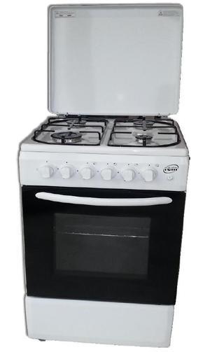 REM Cucina a gas con Forno a Gas + Grill Elettrico 60x60 Bianco R605B