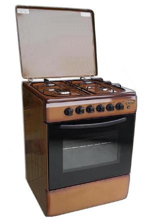 REM Cucina a gas con Forno a Gas + Grill Elettrico 60x60 Moka R605M