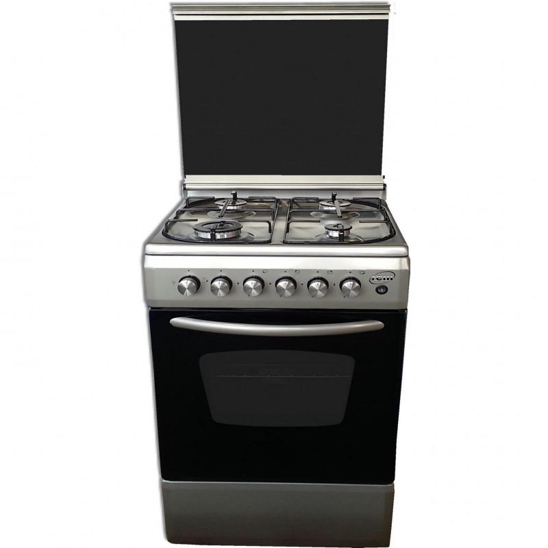 REM Cucina a gas con Forno Elettrico + Grill Elettrico 60x60 Inox R605EVXG
