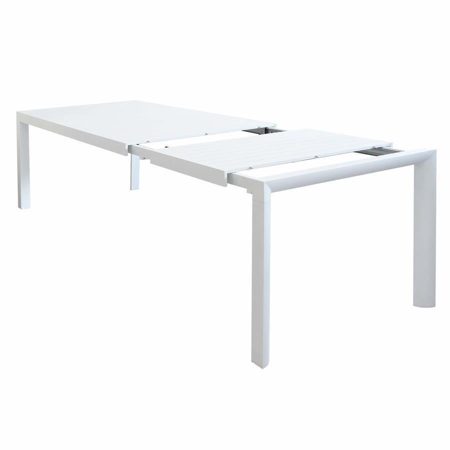 Tavolo da giardino in alluminio allungabile BELLUNO misura 160 / 240 x 100 h 75 colore BIANCO