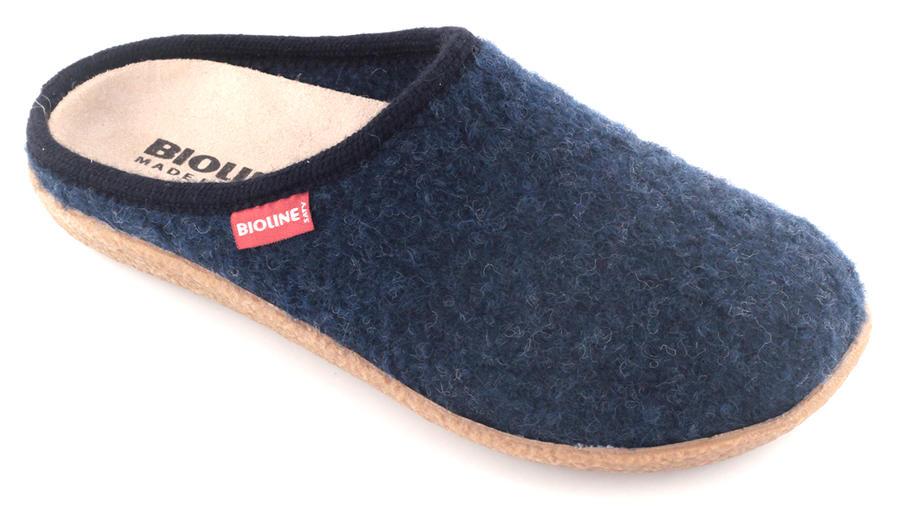 Bioline - Pantofola 3020 - Lana Cotta Blu