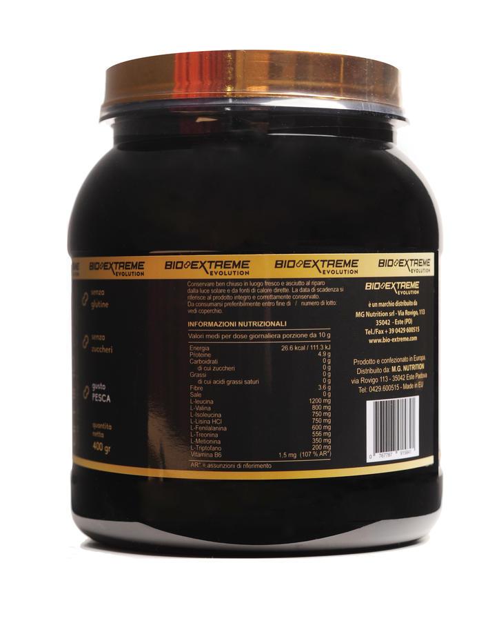 ESSENTIAL AMINO Pool di Aminoacidi fermentati in polvere gusto pesca 400 g