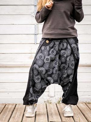 Aladdin woman trousers Maya - black gray