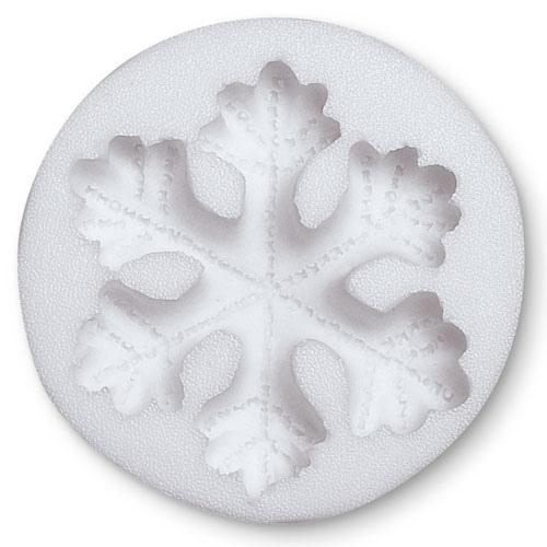 mould fiocco di neve in silicone 4,5 cm