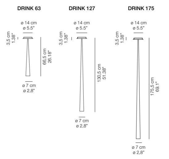 Lampada a Soffitto Drink di Karboxx in Fibra di Carbonio o Fibra di Vetro, Varie Finiture  - Offerta di Mondo Luce 24