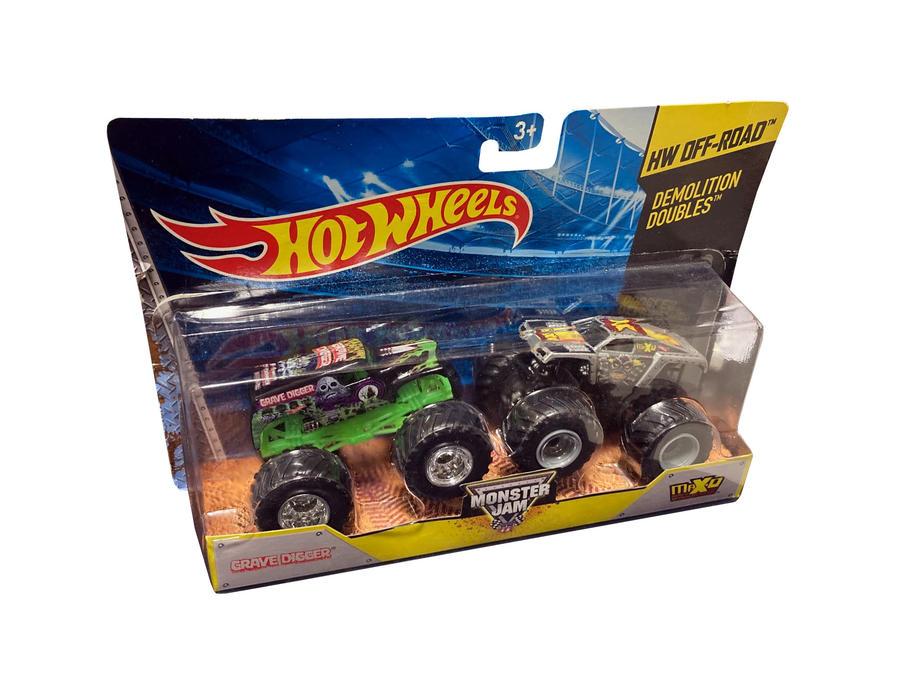 Hot Wheels Monster Jam - Demolition Double Grave Digger vs Max-D - Mattel BGH61 - 3+ anni