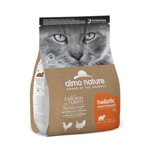 Almo Nature Gatto Holistic Pollo & Tacchino Disponibile nei formati 400 gr - 2 Kg