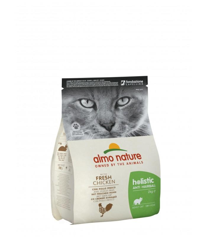 Almo Nature Gatto Holistic Hairball Pollo 2 Kg
