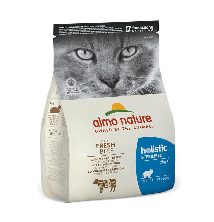 Almo Nature Gatto Holistic Sterilised Manzo 2 Kg